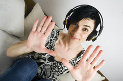 Woman show her hands Royalty Free Stock Photo