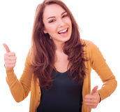 Woman show thumbs up Royalty Free Stock Photos