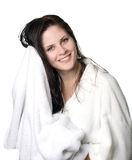 Woman after shower Royalty Free Stock Photography