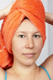 Woman after a shower Stock Image