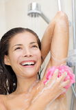 Woman in shower Royalty Free Stock Image