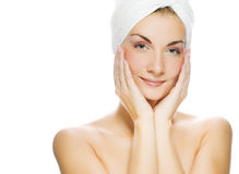 Woman after shower Stock Photography