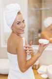 Woman after shower Royalty Free Stock Photos