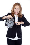 Woman showing clock Royalty Free Stock Photography