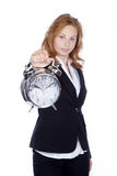 Woman showing clock Royalty Free Stock Images