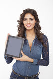 Woman Showing Digital Tablet Stock Photo