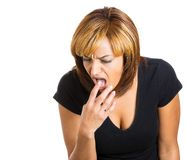 Woman showing disgust Royalty Free Stock Photos