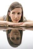 Woman showing emotions of doubts Royalty Free Stock Photography