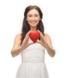 Woman showing heart shape Royalty Free Stock Photo