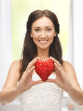 Woman showing heart shape Stock Image