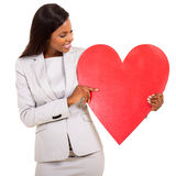 Woman showing heart symbol Stock Photography