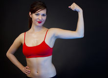 Woman showing her arms Royalty Free Stock Photo