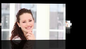 Woman showing leadership in a business environment stock footage