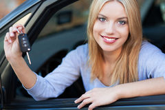 Woman Showing off New Car Keys Stock Images