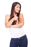 Woman showing ok Stock Images
