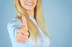 Woman showing ok Stock Photography