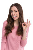 Woman showing OK sign Royalty Free Stock Photo