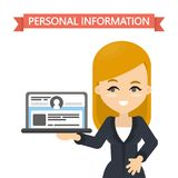 Personal information concept. Royalty Free Stock Image