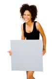 Woman showing placard Stock Image