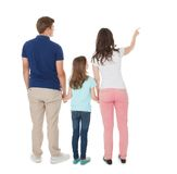 Woman showing something to family Stock Photos