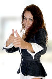 Woman showing thumb's up Royalty Free Stock Photo