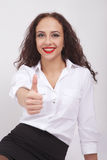 Woman showing thumb up Stock Photography