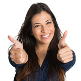 Woman Showing Thumb Up Sign Royalty Free Stock Photo