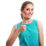 Woman showing thumbs Royalty Free Stock Photography