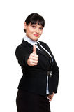 Woman showing thumbs up Royalty Free Stock Photography