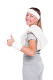 Woman showing thumbs up Royalty Free Stock Photo