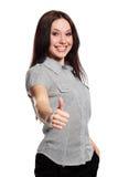 Woman shows OK Stock Image