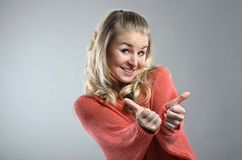 Woman Shows Thumb Up Royalty Free Stock Photo