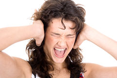 Woman shriek Royalty Free Stock Photos