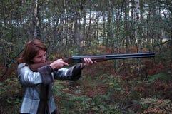 Woman is shuting Royalty Free Stock Photo