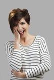 Woman shy Royalty Free Stock Image