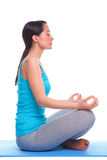 Woman side lotus position Stock Images
