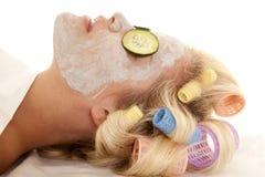 Woman side mask Stock Image