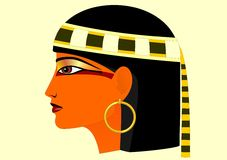Woman sideview. Ancient Egypt stylization Royalty Free Stock Photo
