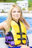 Woman On Sightseeing Boat Tour Royalty Free Stock Photography
