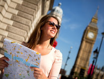 Woman sightseeing in London Stock Photography