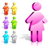 Woman sign Royalty Free Stock Photo
