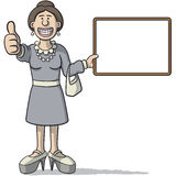 Woman with a signboard Royalty Free Stock Photos