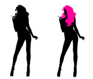 Woman Silhouette Royalty Free Stock Photography