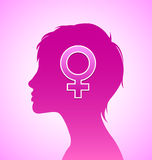 Woman silhouette Royalty Free Stock Photos