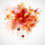 Woman silhouette, abstract hair Royalty Free Stock Image