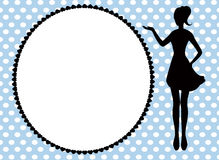 Woman silhouette and frame Royalty Free Stock Images