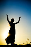 Woman silhouette Royalty Free Stock Images