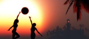 Woman silhouette Stock Photo