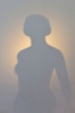 Woman silhouette shadow Stock Photography