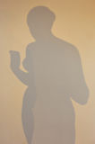 Woman silhouette shadow Royalty Free Stock Photography